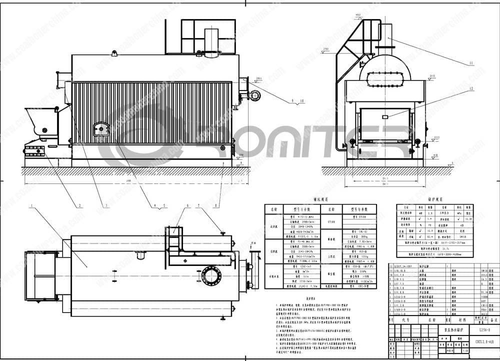 CDZL-Chain-Grate-Coal-Fired-Hot-Water-Boilers