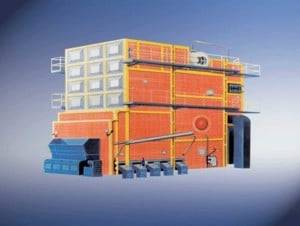 SHL Double Drum Chain Grate Coal Fired Steam Boilers